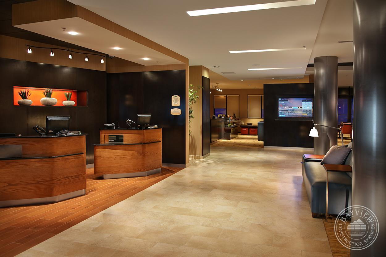 reception area showcasing the Hotel and Leisure Construction Services